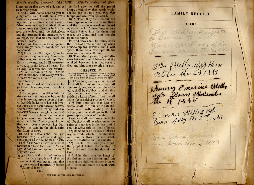 Miller Family Bible